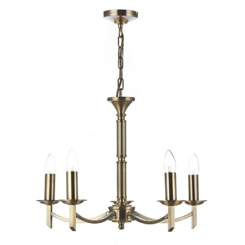 Ambassador 5 Light Dual Mount Pendant Antique Brass AMB0575